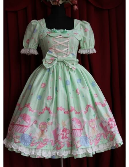delicate-printed-pattern-short-sleeves-sweet-lolita-dress