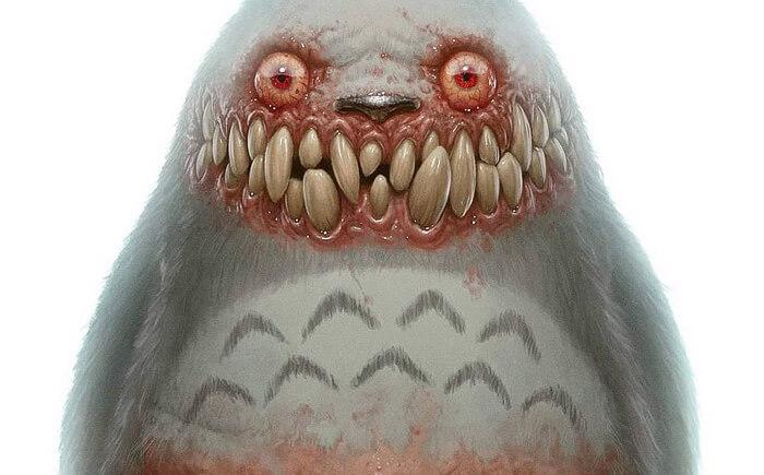 Artista transforma cartoons e animes em criaturas monstruosas