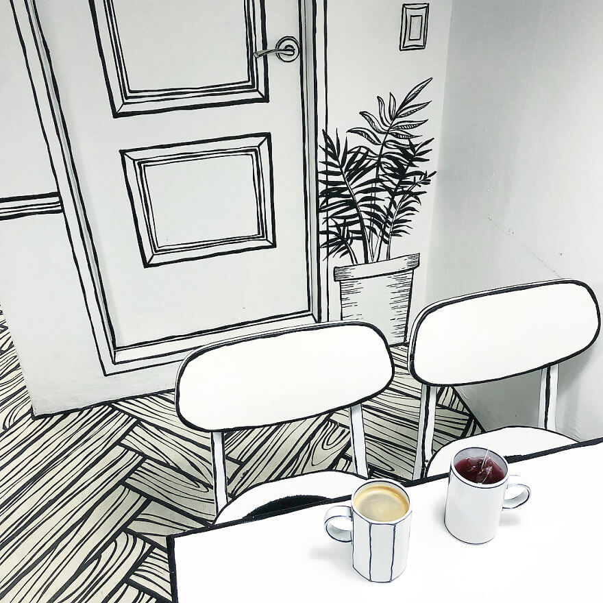 Café desenho animado
