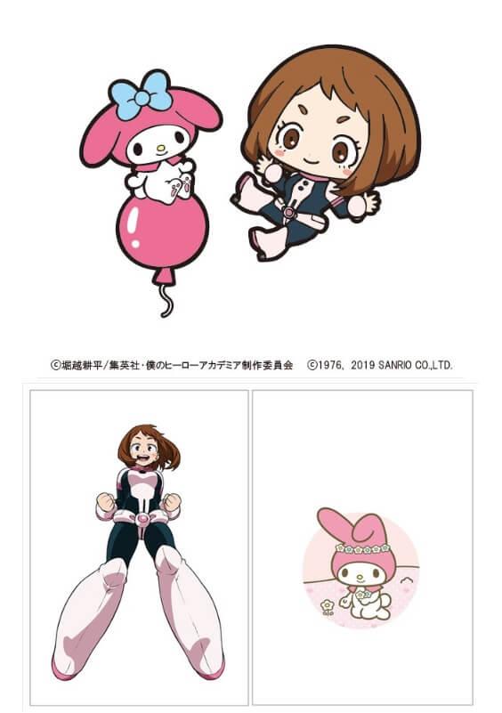 Ochako Uraraka e My Melody GQCA Sanrio