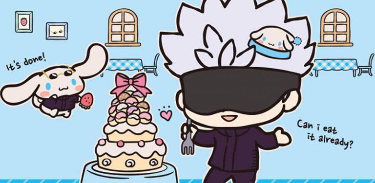 Jujutsu Kaisen anuncia colaboração super fofa com Hello Kitty e amigos